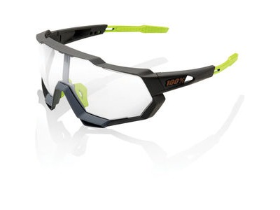 100% Speedtrap - Soft Tact Cool Grey - Photochromic Lens