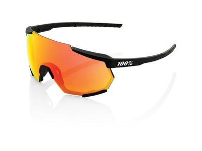 100% Racetrap - Soft Tact Black - HiPER Red Multilayer Mirror Lens