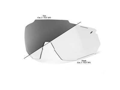 100% Racetrap Replacement Lens - Photochromic Clear/Smoke