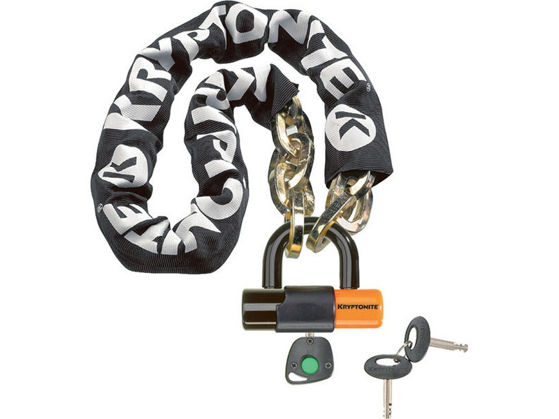 Kryptonite New York chain with series 4 disc lock 3 feet 3 inches (100 cm) click to zoom image