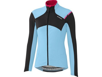 SHIMANO W's Performance Thermal Winter Jersey, Ice Blue, Large