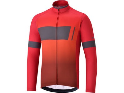 SHIMANO Men's Thermal Team Jersey, Red