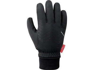 SHIMANO Unisex WINDSTOPPER® Thermal Reflective Gloves, Black