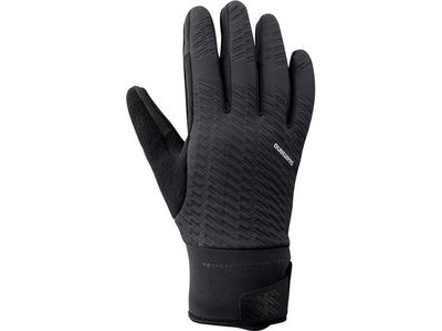 SHIMANO Unisex Windbreak Thermal Reflective Gloves, Black
