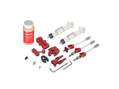 SRAM Avid - Standard Brake Bleed Kit (Includes 2 Syringes/Fittings Bleed Blocks Torx Tool Crow's Foot Bleeding Edge Fitting Dot 5.1 Hydraulic Fluid) - Fits All Avid Guide Hydror Models