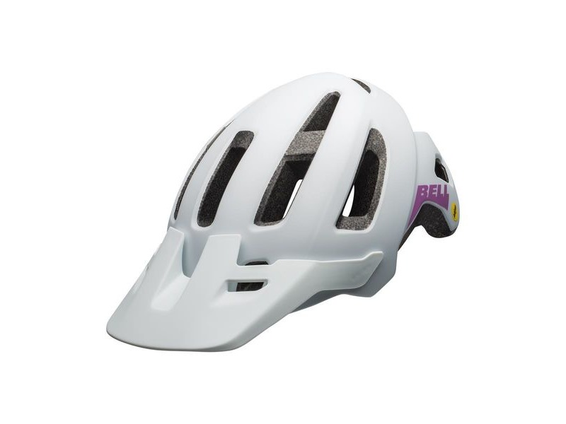 Bell Nomad Jr Mips Youth Helmet Matte White/Purple Unisize 52-57cm click to zoom image