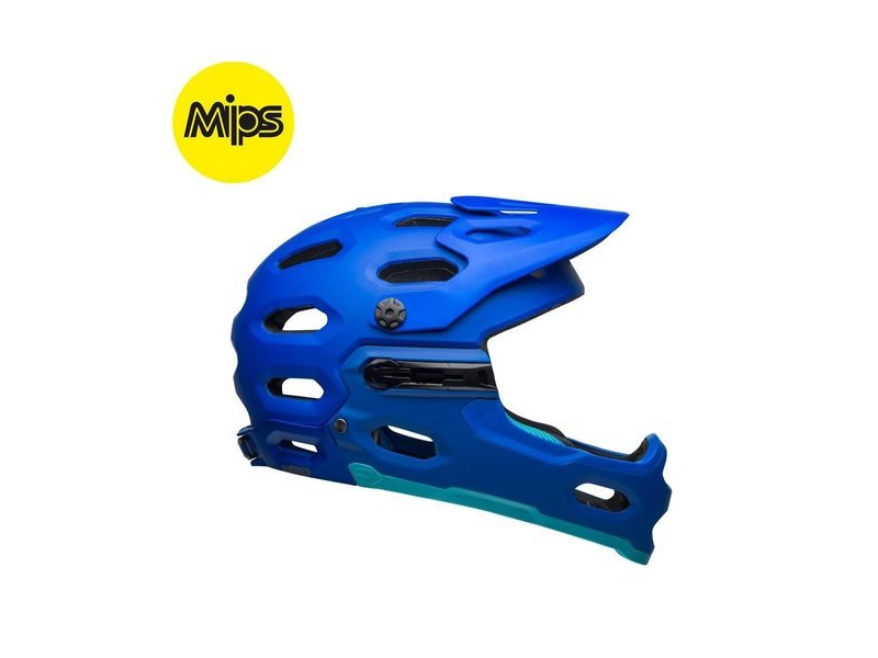 Bell Super 3r Mips MTB Helmet 2019: Matte Blues click to zoom image
