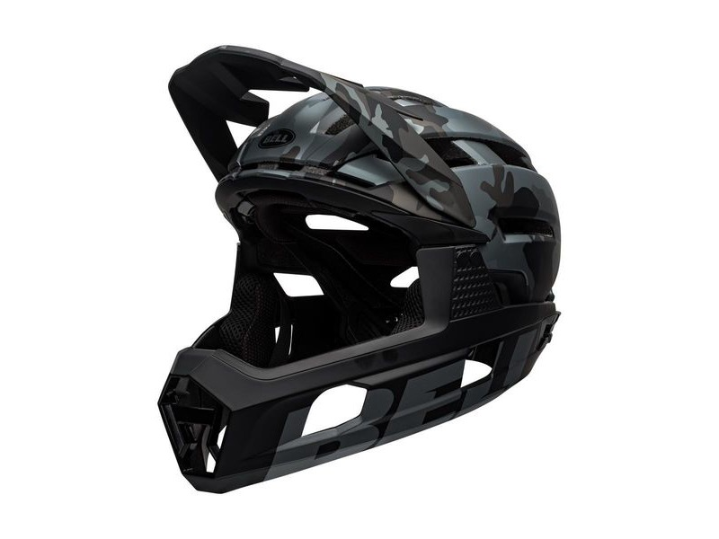Bell Super Air R Mips MTB Full Face Helmet Matte/Gloss Black Camo click to zoom image