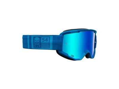 Bell Descender MTB Goggles (Mirrored Lens) 2020: Crossbones Matte Light Blue/Blue -revo B Adult