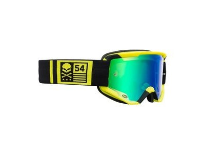 Bell Descender MTB Goggles (Mirrored Lens) 2020: Crossbones Matte Hi-vis/Black - Revo Gre Adult