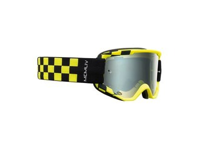 Bell Descender MTB Goggles (Mirrored Lens) 2020: Podium Matte Hi-vis/Black - Silver Mirro Adult