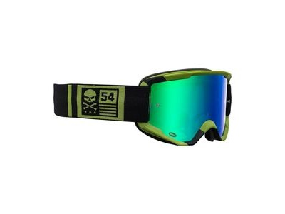 Bell Descender MTB Goggles (Mirrored Lens) 2020: Crossbones Matte Green/Black - Revo Gree Adult