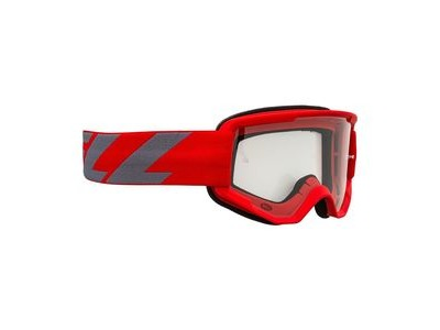 Bell Descender MTB Goggles (Clear Lens) 2020: Outbreak Matte Red/Grey Adult
