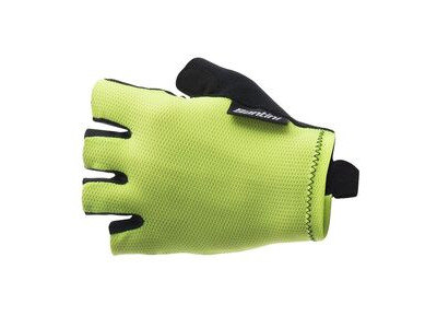 Santini 365 Brisk Short Finger Glove Yellow