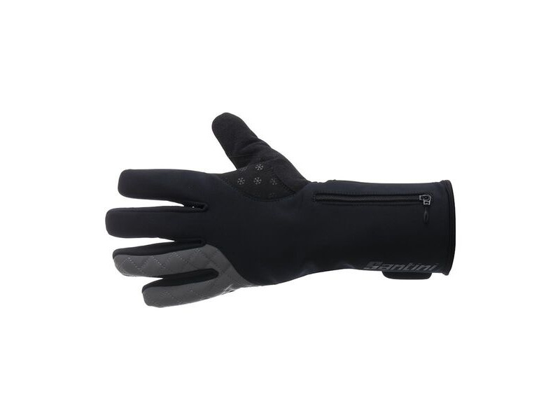 Santini 365 Win Fiord Long Finger Glove Black click to zoom image